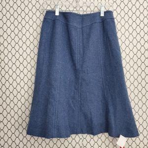 Tory Burch Navy Skirt Size L NWT